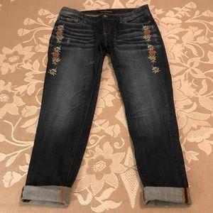 Sundance Driftwood Embroidered Skinny Jeans EUC 30